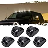 5pcs Black Smoked Lens White LED Cab Roof Top Marker Lamp Clearance Running Light For 1999-2016 Ford E/F (Smoked Lens with Wh