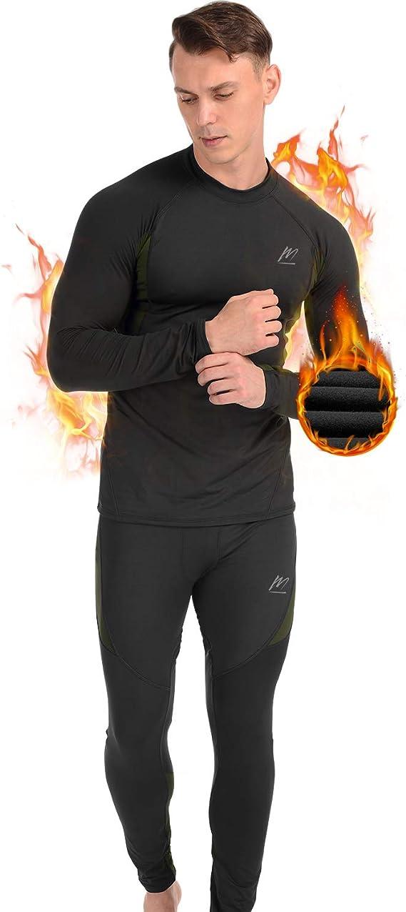 Hommes Compression Base Couche Haut /& Leggings Course Peau Fit Respirant Chemise