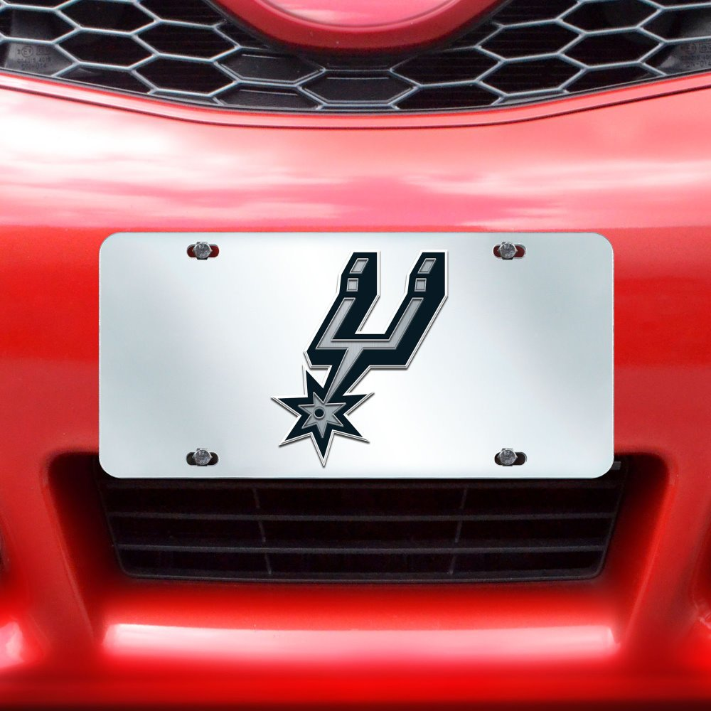 Fanmats NBA San Antonio Spurs License Plate-Inlaid 6x12