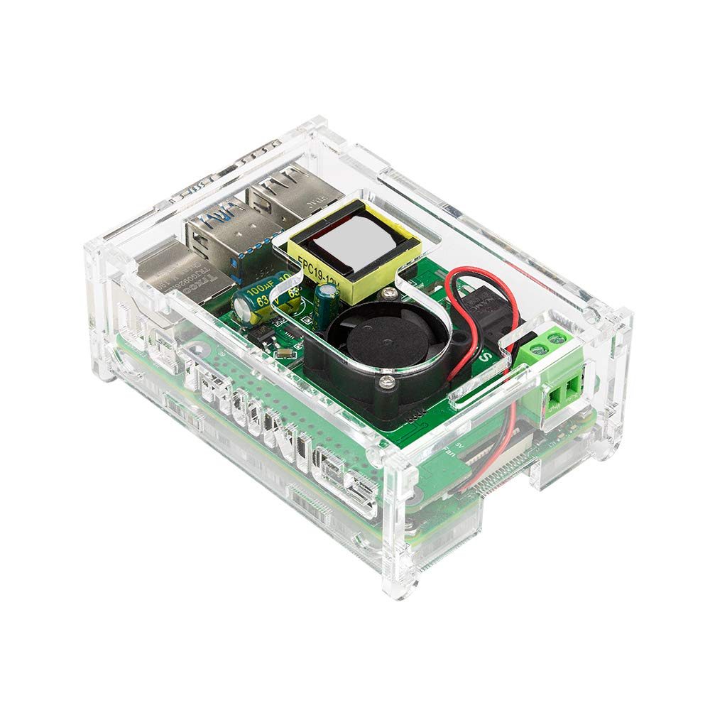 UCTRONICS PoE HAT for Raspberry Pi 4 with Case, 802.3at Power Over Ethernet Expansion Board for Pi 4 B Board, with Cooling Fan