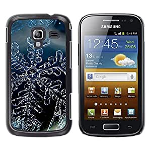 Impact Case Cover with Art Pattern Designs FOR Samsung Galaxy Ace 2 Snow Crystal Snowflake Winter Ice Betty shop
