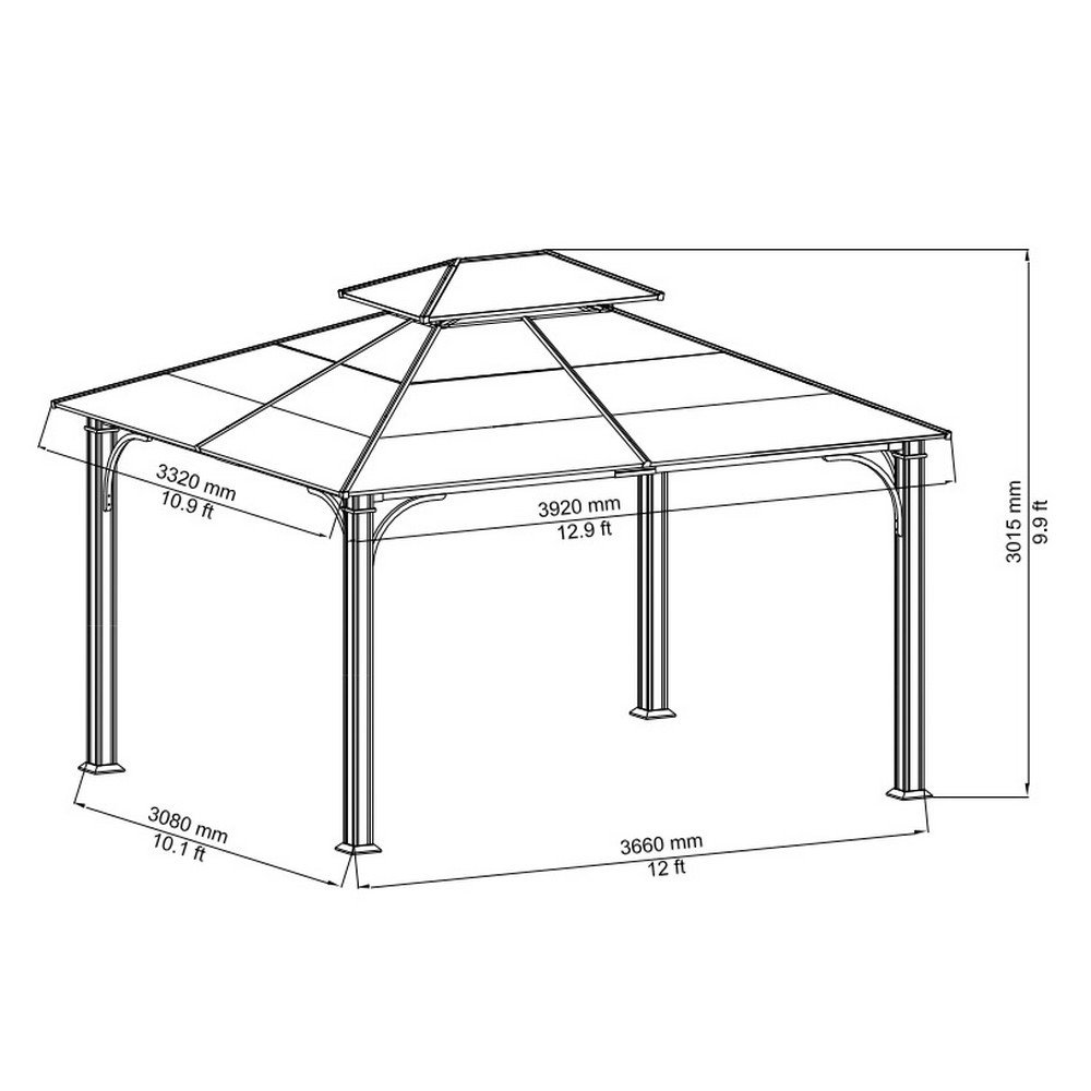 Amazon.com : 10 X 12 Chatham Steel Hardtop Gazebo : Patio, Lawn U0026 Garden