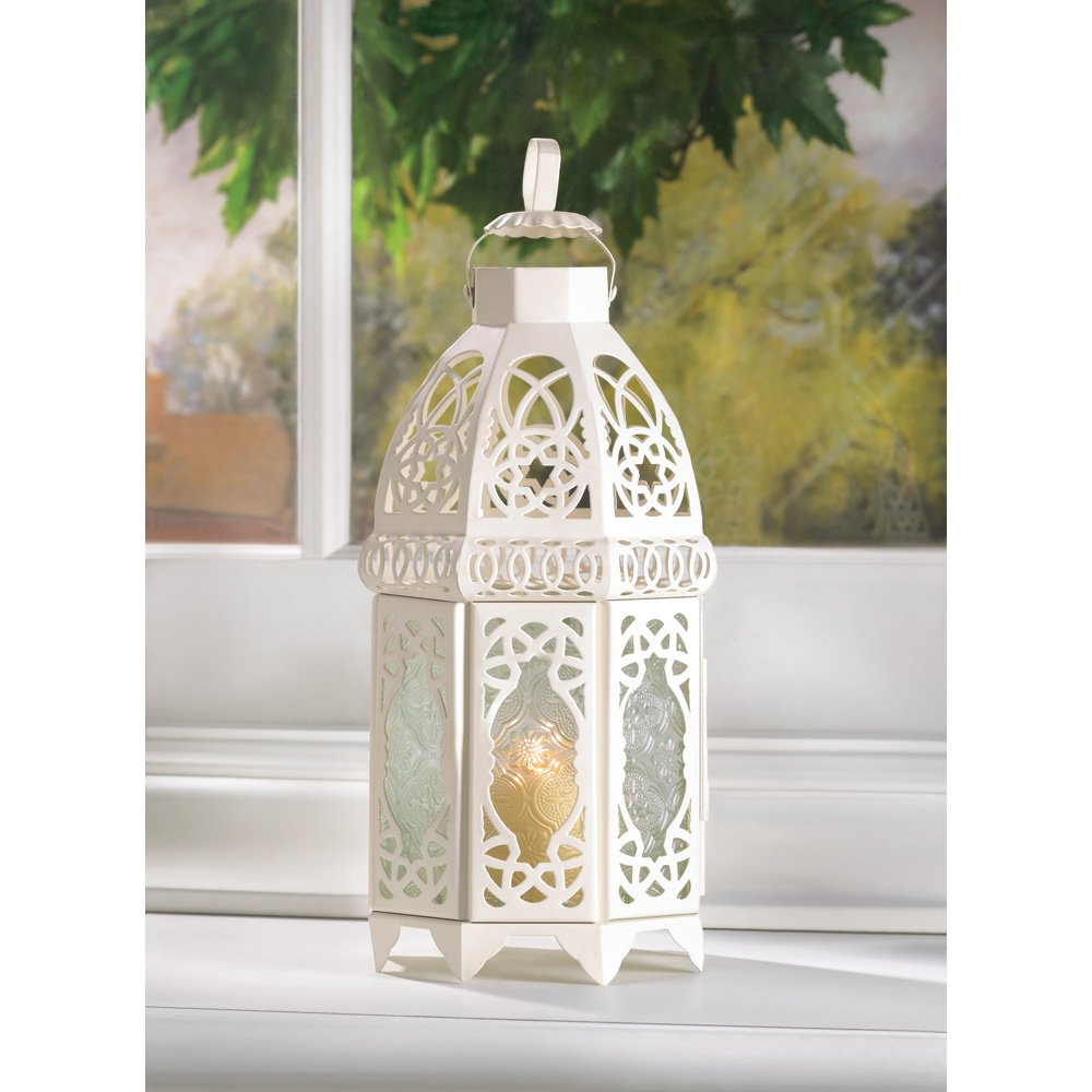 Amazon.com: 10 White Lattice Lantern Wedding Centerpieces: Home ...