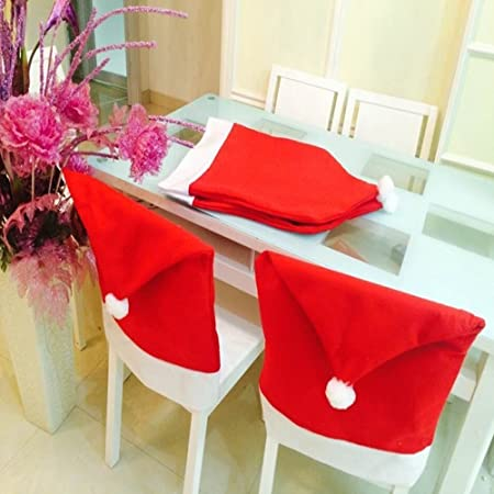 kitchen chair back covers. Christmas Chair Covers Decorations,Set Of 8 Dinning Back Covers,Removable Washable Kitchen 9