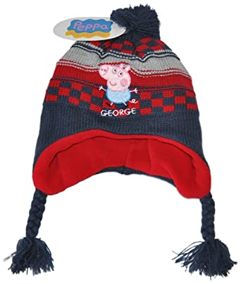 509fa476bc27a Boys children kids Peppa George pig hat fleece lined (54 cm 4-8 years