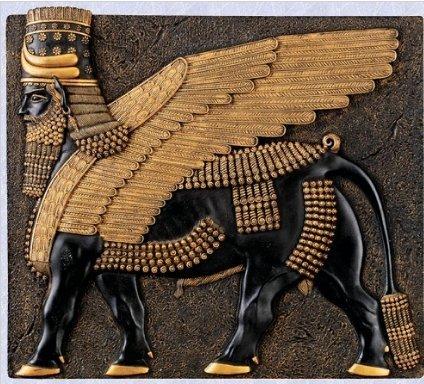 - Egyptian Assyrian replica Sculpture ancient Bull Wall New The Digital Angel
