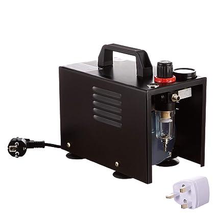 Aerógrafo Mini pistola pulverizadora Aerógrafo Compresor de aire con cubrir sin aceite Máquina de compresor de