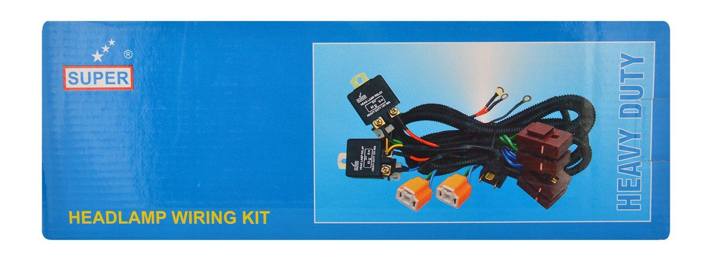 Super 1404 Head Lamp Wiring Harness With Heavy Duty Relay Ke Light Car Motorbike
