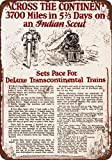 Used Indian Motorcycles Best Deals - 1925 Indian Motorcycle Races Trains Vintage Look Reproduction Metal Signs 12X16 Inches