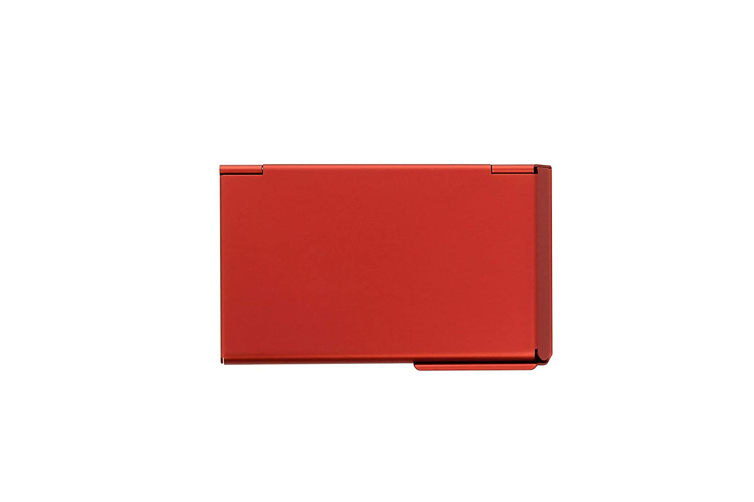 /Ögon OT-Red Business Card Hold One Touch Anodized Aluminium Red