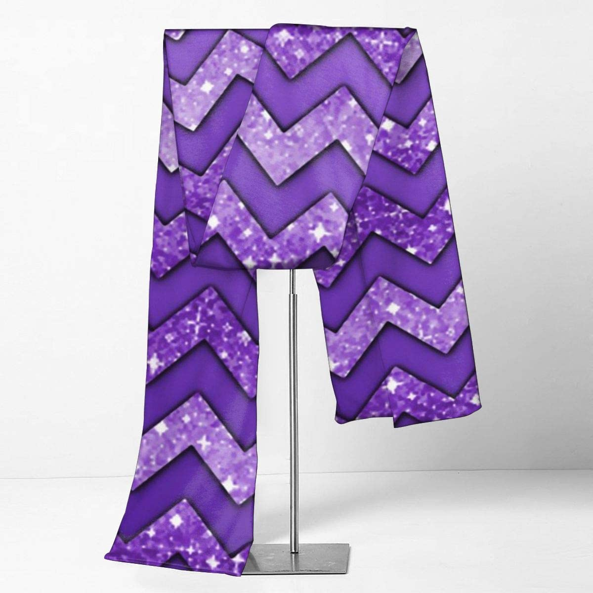 Purple Chevron Scarfs Imported Lightweight Neckwear Blanket Wrap Winter Shawl