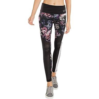 5dd68cc5c5 BEBE SPORT Womens Floral Fitness Athletic Leggings Black M at Amazon Women's  Clothing store: