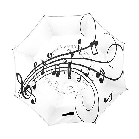 Amazon Com Reverse Umbrella Musical Notes Drawing Windproof Anti Uv