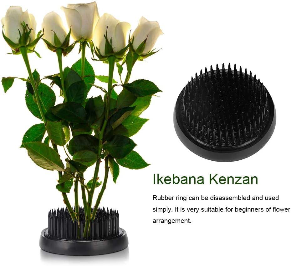 Duokon Ikebana Japonesa Flor de Kenzan Ikebana Kenzan Aguja Flor Pin Flor Decoraci/ón Herramienta de arreglo Fijo Negro 70mm