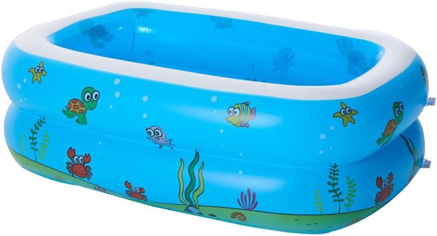SYY - Piscina Hinchable para el Acuario, Piscina para la Familia Rectangular, Gran Juego de Agua Hinchable, colchón de Aire, Piscina para jardín, 110 x 90 x 40 cm