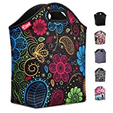 insulated lunch bags for women - Large Neoprene Lunch Tote, 14