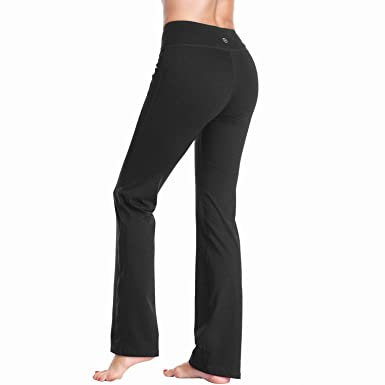 Amazon.com: DAYOUNG Womens Bootcut Yoga Pants with Inner ...