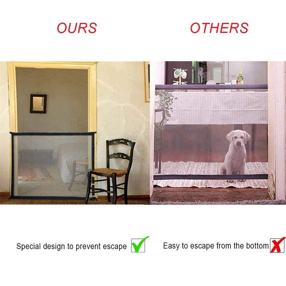 Hund Safe Guard Nifogo Magic Gate Schutzgitter Haustiere Pet Dog Gate Portable Folding Safe Guard Innen und Au/ßenschutz Sicherheitstor