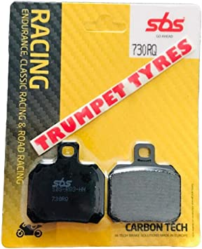 Ducati Panigale V4 Speciale 1100 18-19 2018-2019 SBS Performance Rear Carbon Tech Road Racing Race Brake Pads Set Genuine OE Quality 730RQ