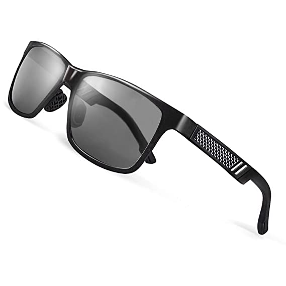 e922b80bb9 CGID GD60 Classic Al-Mg Alloy Frame Polarized Sunglasses UV400 for Mens  Womens