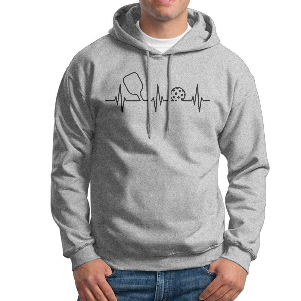 Fashion Pickleball Heartbeat Cotton Jacket for Mens Vtw24i-5 Mens Pullover Hoodie