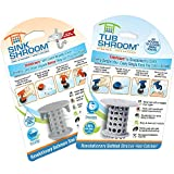 1 TubShroom+1 SinkShroom Family Pack, Drain Protector Hair Catcher, Strainer, Snare, For Bathtubs and Sinks (Gray) ()