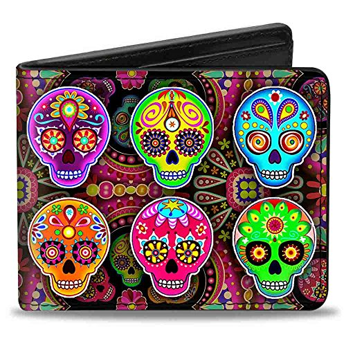 Buckle-Down Bifold Wallet Thaneeya Sugar Skulls