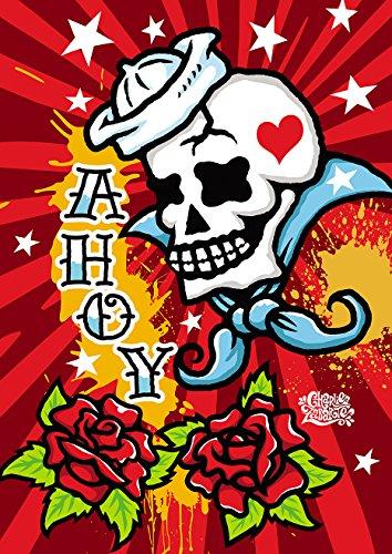 Toland Home Garden Sailor Skull 28 x 40 Inch Decorative Trad