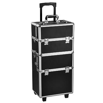 Amazoncom Comie In Pro Aluminum Rolling Makeup Case Salon - Aluminum trolley case pro rolling makeup cosmetic organizer