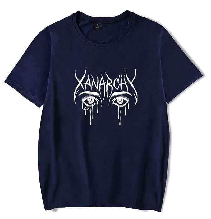 SIMYJOY Pareja Lil Xan Fans Camiseta Xanarchy Rapper Tshirt Cool Hip Pop Top para Hombre Mujer Adolescente: Amazon.es: Ropa y accesorios