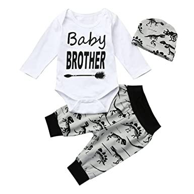 d13159cec4f43 Amazon.com: Clothful 💓 Newborn Infant Baby Boy Letter Romper Tops+ ...