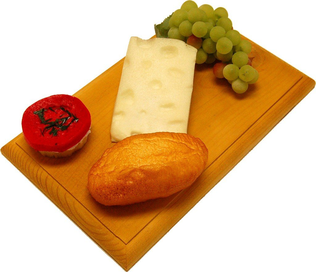 Swiss Fake Cheese Combo on Wood Board by Flora-cal Products