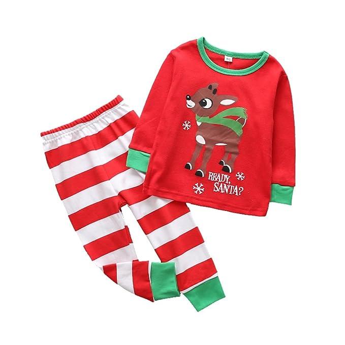 28fa698f6a Amazon.com  Little Sky Kids Pajamas Set Cotton