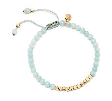 Lola Rose Marylebone Aqua Dyed Quartz Grey Agate Bracelet yO903UKq27