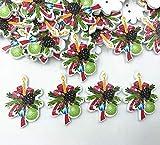 50pcs Christmas Decoration Wooden Buttons Sewing Handicrafts Scrapbooking 35mm