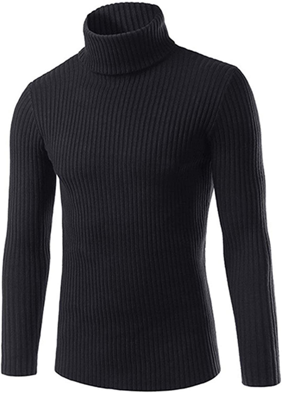 Friendshiy Mens Sweaters and Pullovers Men Turtle Neck Sweater Male Outerwear Jumper Knitted Turtleneck Sweaters M-XXL,Medium,Black
