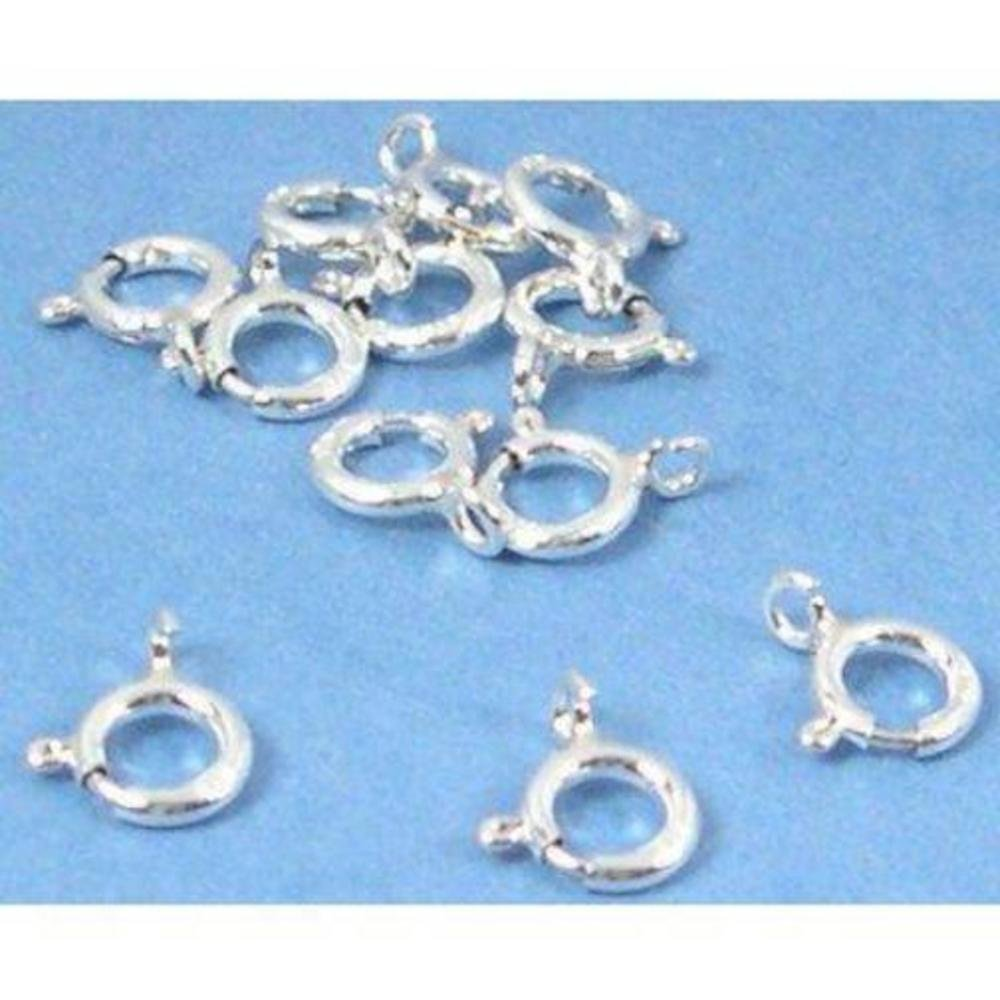 12 Sterling Silver Spring Ring Clasps Necklace 5.5mm