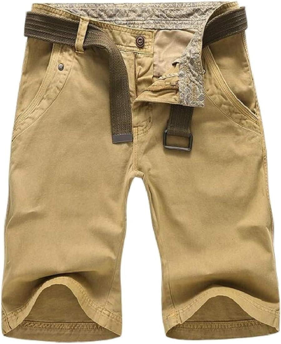 Jotebriyo Mens Cotton Basic Pockets Straight Leg Outwear Cargo Shorts