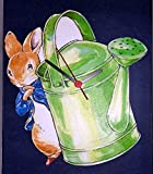 HAND MADE BEATRIX POTTER MOUSE WITH WATERING CAN WALL CLOCK - IMPORTED FROM ENGLAND BY LAND RISE DESIGN {jg} Great for mom, dad, sister, brother, grandparents, aunt, uncle, cousin, grandchildren, grandma, grandpa, wife, husband, relatives and friend.