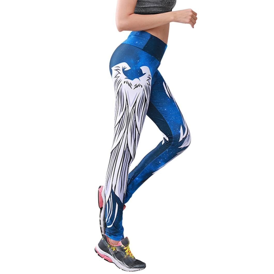 Women Leggings, Gillberry Women Sports Trousers Athletic Gym Workout Fitness Yoga Leggings Pants (Blue O, S)
