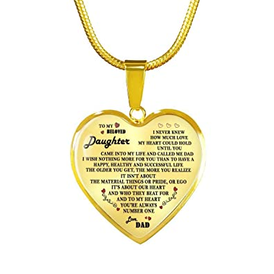Amazon com: John-dhh Father Daughter Necklace Pendant - to
