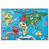 Melissa & Doug World Map Jumbo Jigsaw Floor