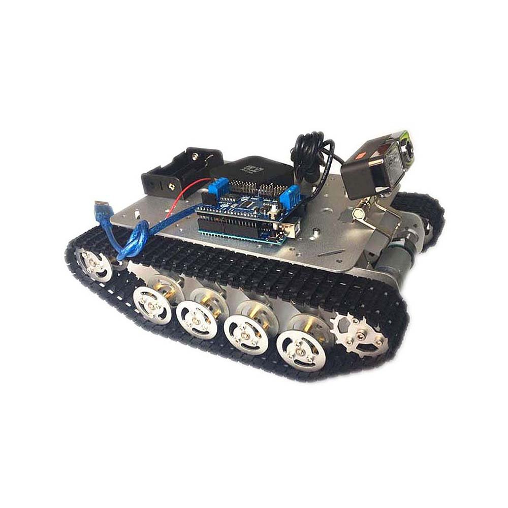 Intelligent Aluminum Alloy Rc Tank App Controlled Car Circuit 5kg Payload With 720p Hd Video Wifi Control Kit Compatible Arduino Toys Games