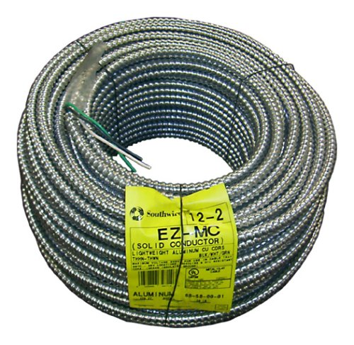 (Southwire 68580001 250-Foot 12-Gauge 2-Conductor Type MC Conduit, Aluminum)