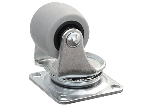 Ruedas giratorias para mueble (goma ruedas 30 ruedas ruedas con anschraubplatte y rodamiento de deslizamiento