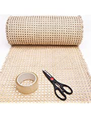 """14"""" Width - Sold by feet - Cane Webbing Roll for Furniture - Rattan Caning Material Sheet Repair Cesca Chair - Hexagon Rattan Decor for Cabinet, Dresser"""