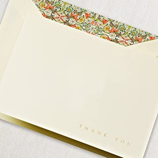 product image for Crane & Co. 10 Engraved Red Florentine Fold Over Thank You Note