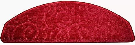 Betrothales Dentro De La Escalera Roja Moderna Fácil Pasadores De Paso Pasos Antideslizantes Esteras De Impresión Grosa del Tobillo Grueso Grueso 12 Mm Un Paquete 1 Rojo 65 * 24 * 3 Cm: Amazon.es: Hogar