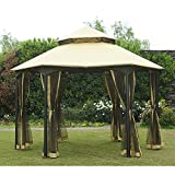 Sunjoy Replacement Mosquito Netting for Southbay Easy Setup Gazebo