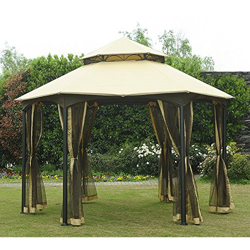 (Sunjoy Replacement Canopy for Southbay Hexagon Easy Set up Gazebo)